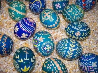 Easter Eggs from Buffalo's Broadway Market. Credit:http://www.pinterest.com/pin/70016969178984149/