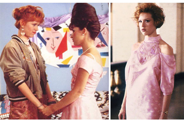 Pretty in Pink prom dress before after